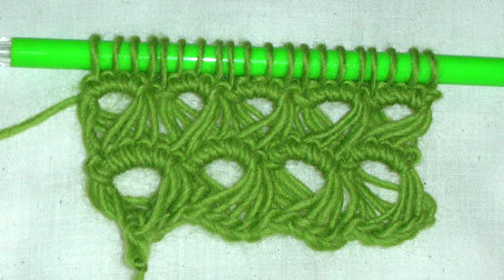 Does anyone have a free pattern for knitted broomstick lace