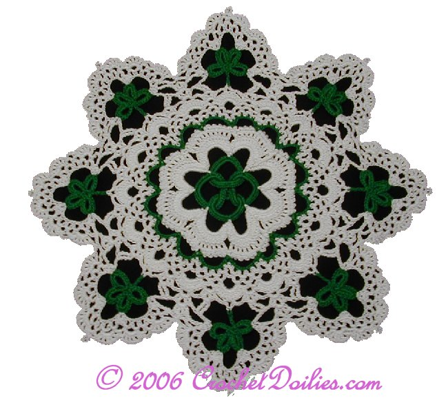 From Crochet at About.com: Irish Crochet Shamrock Free Pattern