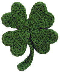 Crochet Memories, Free Shamrock Coaster  Dishcloth Pattern