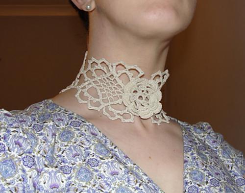 Irish Filigree Crochet Necklace Free Pattern : GIVEAWAY WINNER ANNOUNED ? IRISH CROCHET ? Crochet
