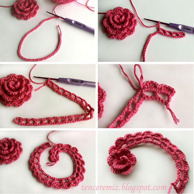 Crochet Rose Pattern No Sew : Crochet Flowers, Flower Make, Pattern, Crochet Flower ...
